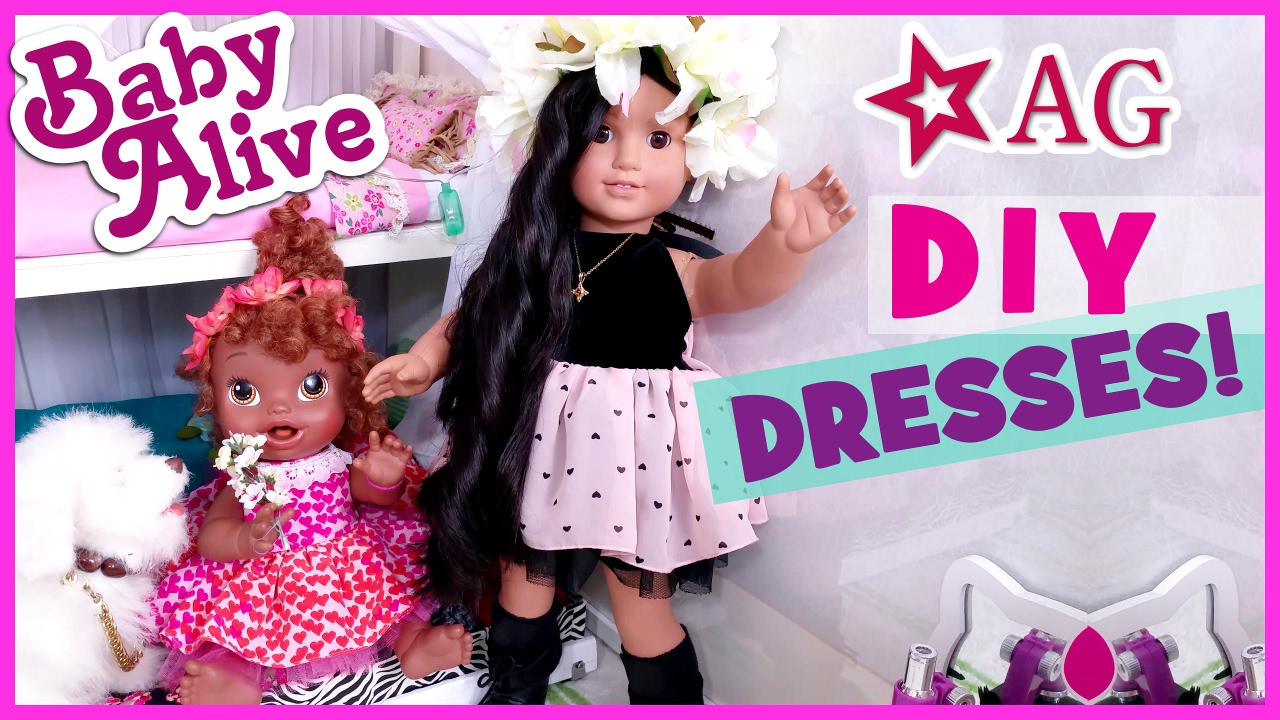fc3f4d588609 DIY HOW TO MAKE BABY ALIVE   AMERICAN GIRL DOLL DRESSES CLOTHES ...