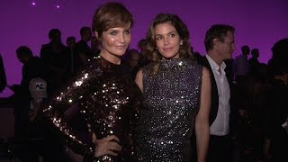 Supermodel Cindy Crawford and Helena Christensen at Tom Ford Fashion Show in NYC
