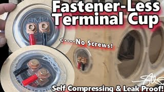 Fastener-Less Speaker Box Terminal Cup - Self Compressing & Leak Proof Design by SMD