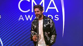 Thomas Rhett Backstage at the 2018 CMA Awards