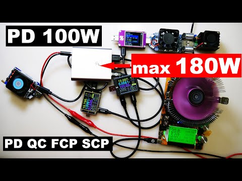 MagicFox Power Delivery 100w PD QC FCP SCP Type-C Мощная зарядка max 180W !!!