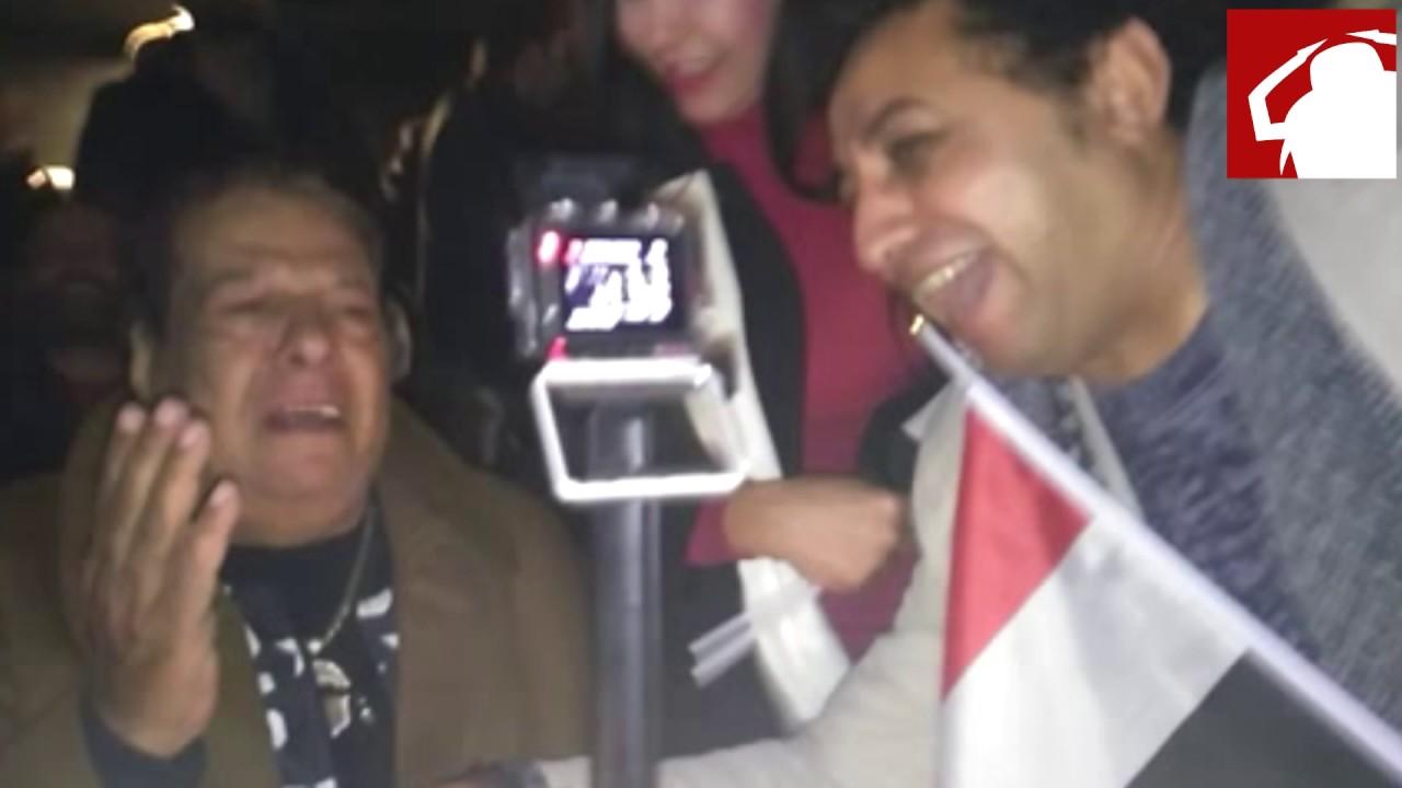 بكاء شعبان عبد الرحيم بعد هدف مصر في الكاميرون