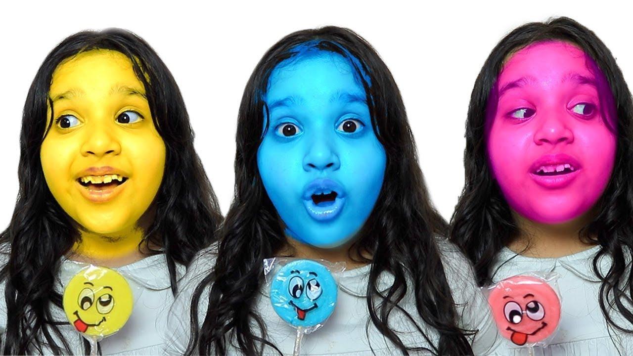making Fruit Lollipops with Shfa | 어린이를위한 새로운 이야기 모음 롤리팝 사탕 가져 갔어