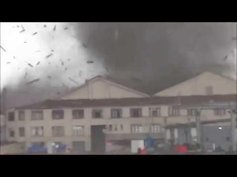Tornado With Air Raid Siren in Turkey Istanbul