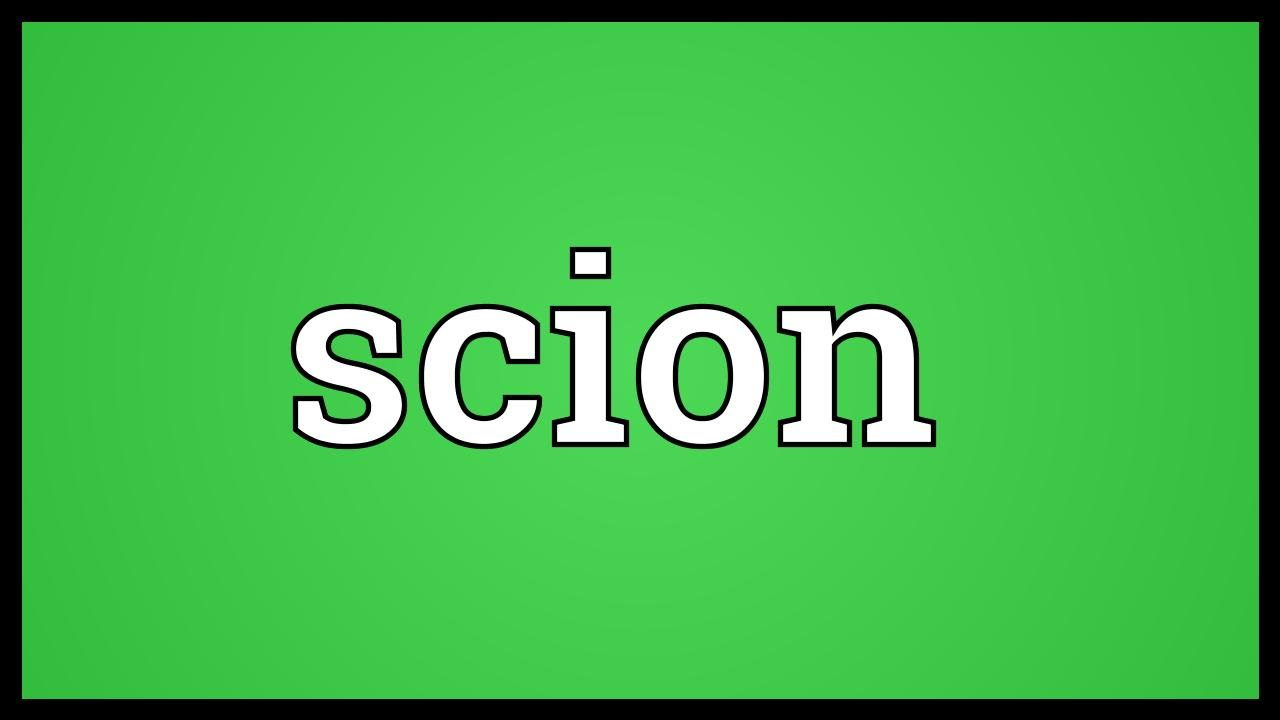 Scion Meaning
