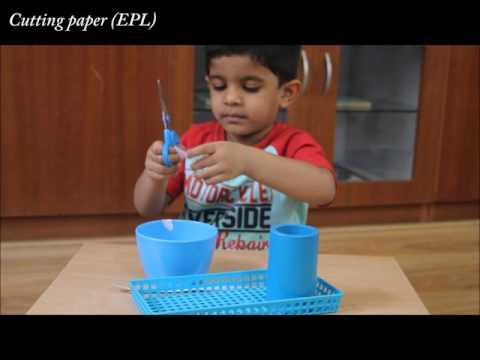 Cutting paper (EPL) -- Mont Ivy Preschools 3GP, MP4 Video & MP3
