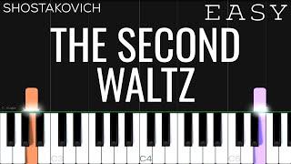 Shostakovich -The Second Waltz | EASY Piano Tutorial