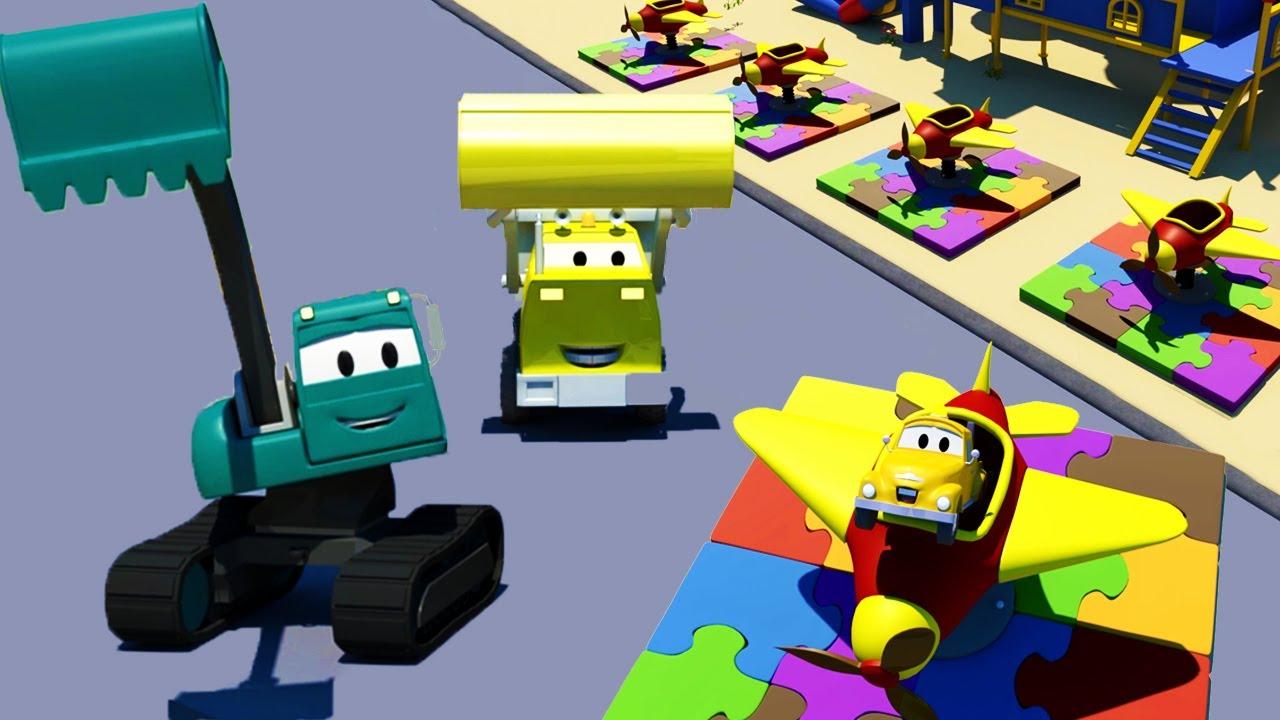 Đội xây dựng - Những chiếc máy bay đồ chơi nhỏ - Thành phố xe