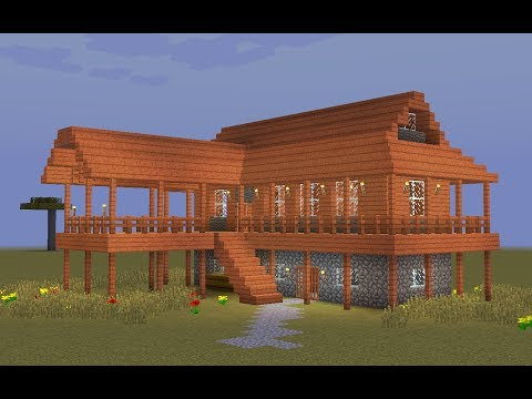 Minecraft - How to build a wooden savanna house