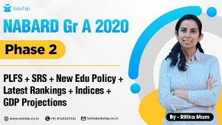 NABARD Gr A 2020 |Phase 2| PLFS + SRS + New Edu Policy 2020 | Lecture 11 | by Rittika Mam