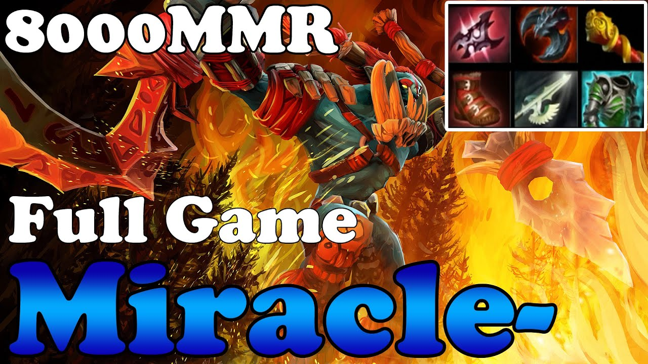 dota 2 miracle 8000mmr plays huskar full game ranked match
