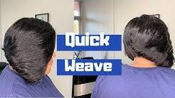 Layered Quick Weave Bob