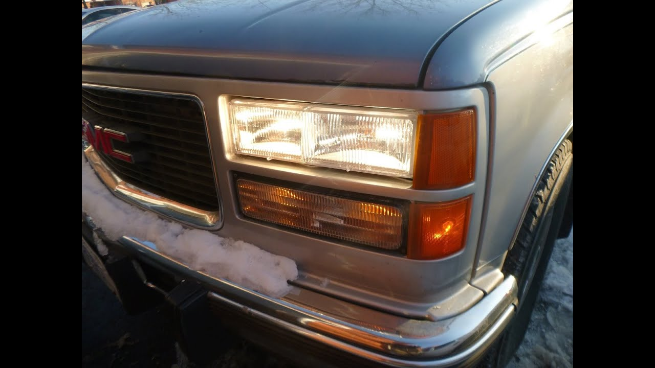 medium resolution of 1996 suburban modifying the headlights to have low and high beams on at the same time youtube