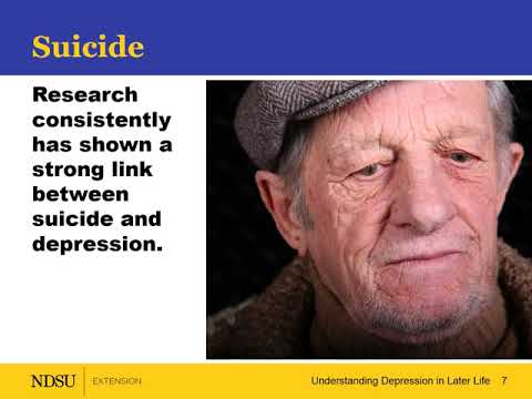 Understanding Depression in Later Life – Depression and Suicide Risk