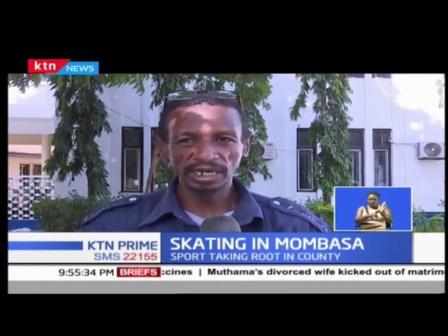 Skating becoming a popular sport in Mombasa County