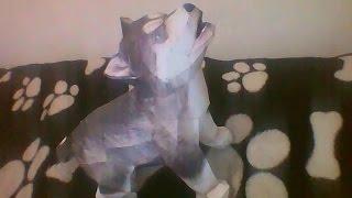 Cachorro Papercraft - Alaskan Malamute