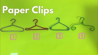 How to Make Miniature Clothes Hangers