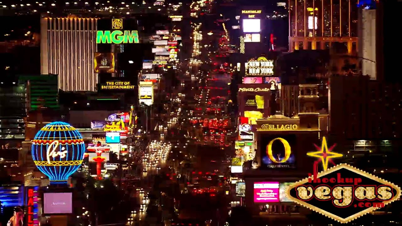 Las Vegas Neon Lights Aerial Helicopter View Youtube