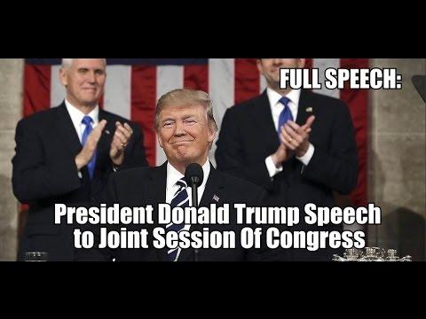 FULL SPEECH: President Trump FIRST Joint Session Speech Of Congress