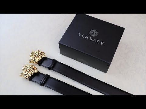 24d71dfae Real vs Replica Versace Palazzo Belt HOW TO SPOT FAKE VERSACE - YouTube