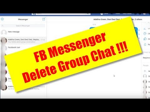 How delete group chat on messenger