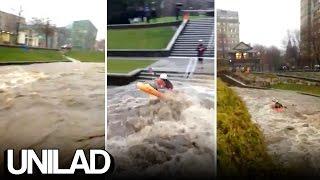 Kayaking During A Flood