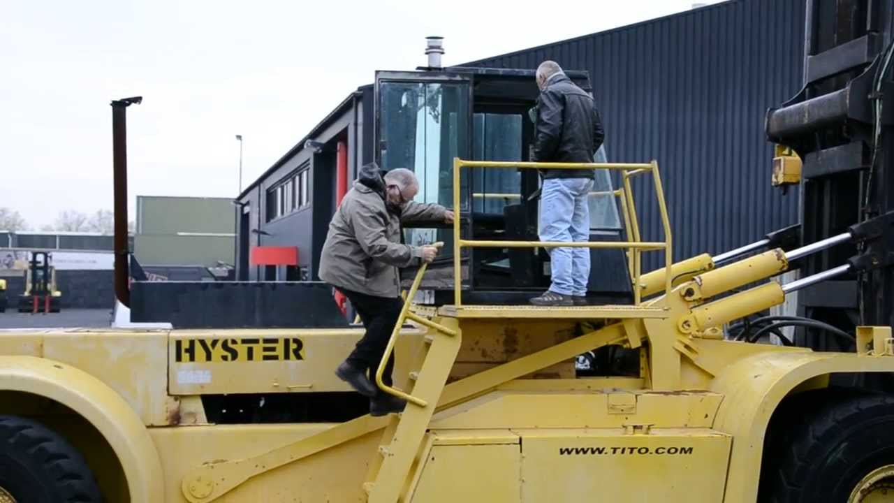 titocom training of forklift operator and service engineer hyster h4400c 16ch youtube - Duties Of A Forklift Operator