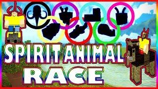 BOOGA OLYMPICS 2nd EVENT - SPIRIT ANIMAL RACE (Roblox Booga Booga)