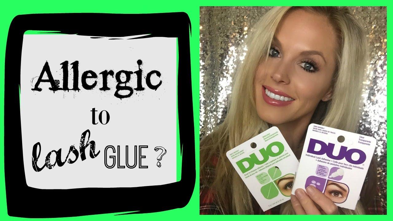 ac98ab7db34 I'm Allergic to - Lash Glue - YouTube