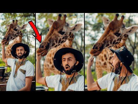 Giraffe Literally BITES MY WHOLE HAND   (Caught On Camera) Kenya Vlog
