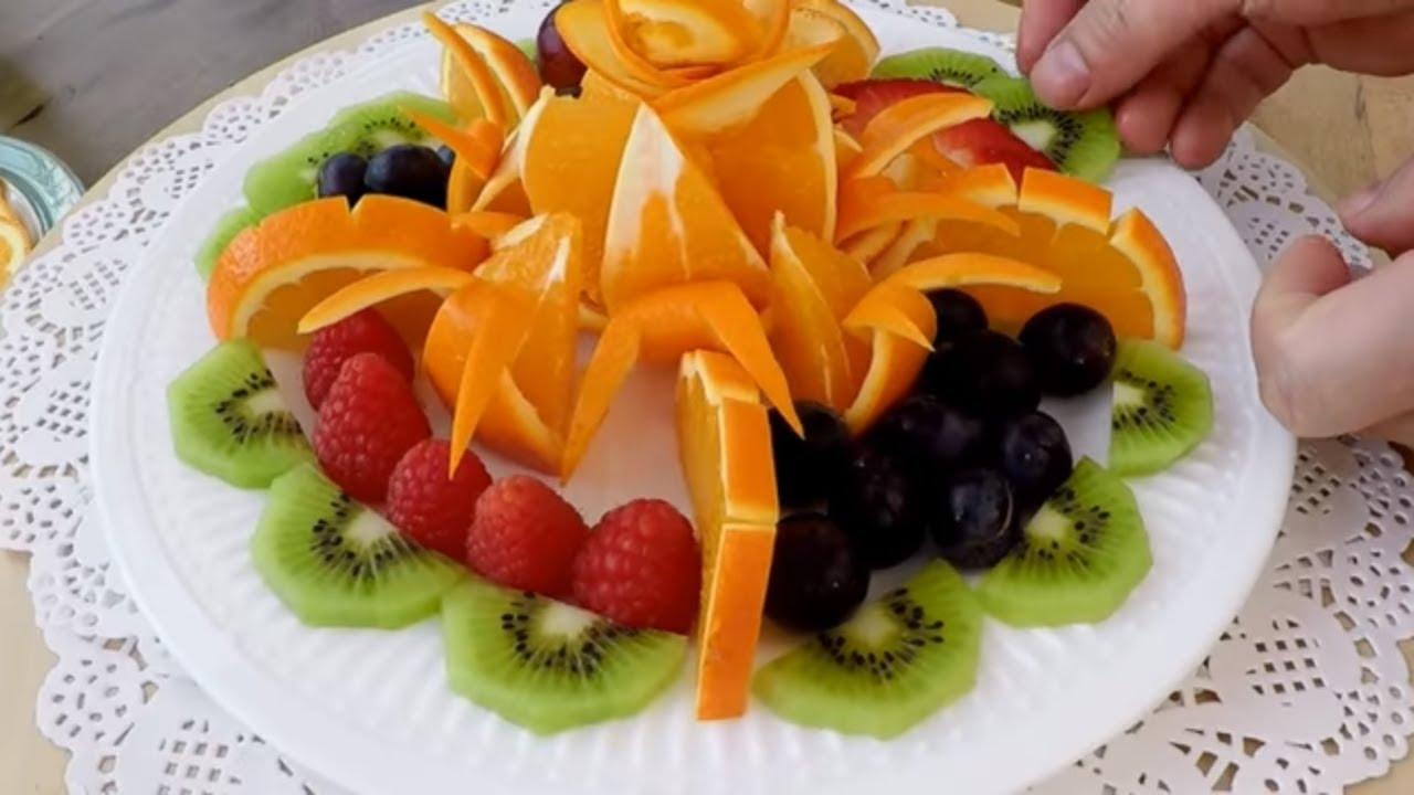 Fruit Platter Fruits Carving Garnish Food Decoration Party