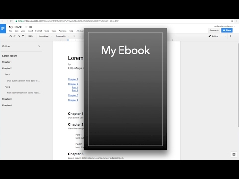 How To Ebook From Google Docs