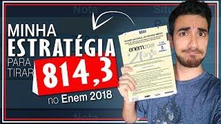 MINHAS NOTAS NO ENEM 2018 + Como estudar para o ENEM 2019  