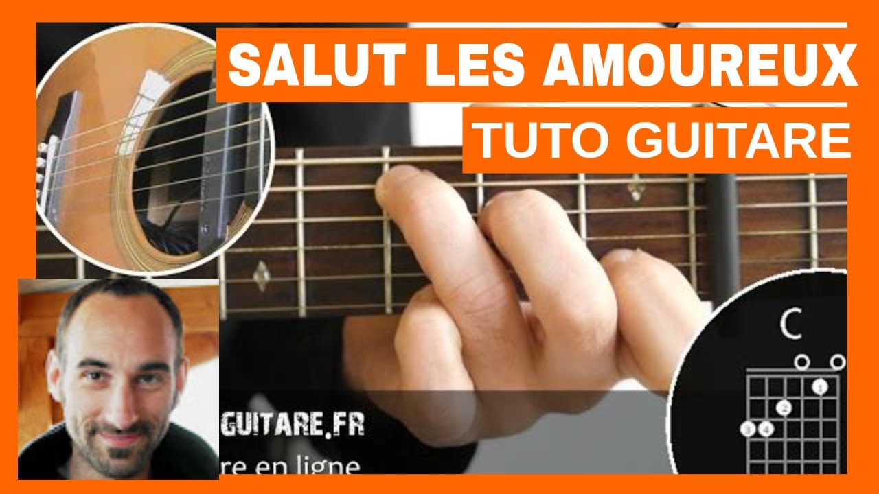 "Joe Dassin ""Salut les Amoureux"" Tuto Guitare"