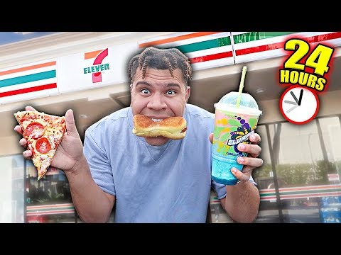 I only Ate 7-Eleven Food For 24 hours (IMPOSSIBLE FOOD CHALLENGE)