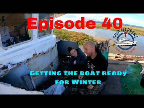 Afl. 40 - Enorme gaten in het dek! De boot winterklaar maken en nieuwe ankers pl