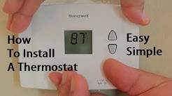 How To Install Replace A Thermostat