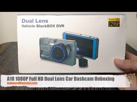 A10 1080P Full HD Dual Lens Car Dashcam Unboxing - Gearbest.com