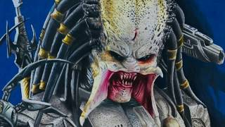Drawing The Predator Speed Art How To Draw Predator Hiperrealistic