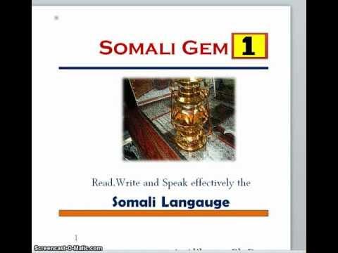 Somali Langauge Lesson 1