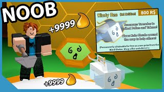 Noob With Windy Bee! Get 25 Bees Fast! Make Millions Honey | Roblox Bee Swarm Simulator