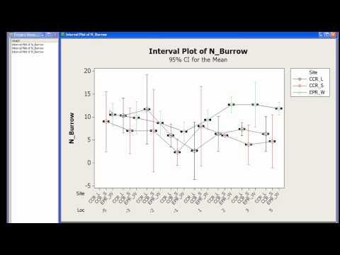 Creating An Interval Plot In Minitab