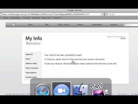 Learn IChat (Leopard): Lesson 1 - Creating A Free .Mac Chat Account @ USchoolme