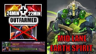 nEW CRAZY MID LANE Earth Spirit Outfarmed Anti Mage Radiance Build Pro Gameplay Dota 2 7.23