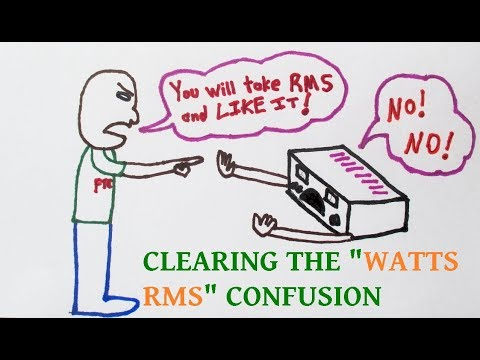 Watts rms and the FTC clarification