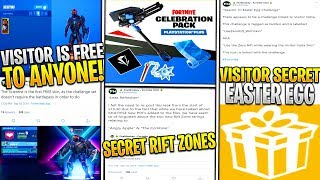 *NEW* VISITOR Scientist Fortnite Easter Egg! *Secret 7 Variants!* PS4 Celebration Pack, NEW LEAKS!