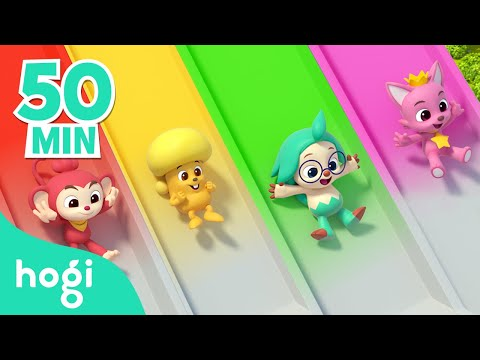 Colorful Valentine's Day with Hogi | + Compilation | Learn colors with slide | Colors for Kids