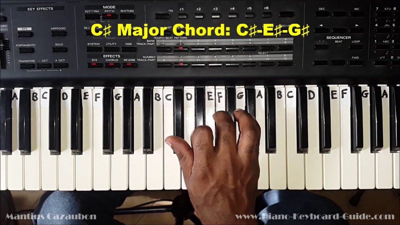 How to play the c sharp major chord c on piano and keyboard how to play the c sharp major chord c on piano and keyboard hexwebz Images