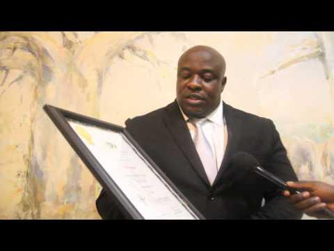 Herald Editor Mr Caesar Zvayi speaks after receiving the 2014 Super Brand Print Media award