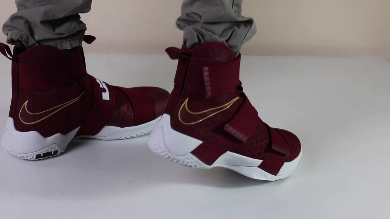 best service 145d0 b7ffc Nike Lebron Soldier 10 Basketball Shoe On Feet